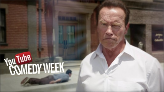 Arnold Schwarzenegger for YouTube Comedy Week