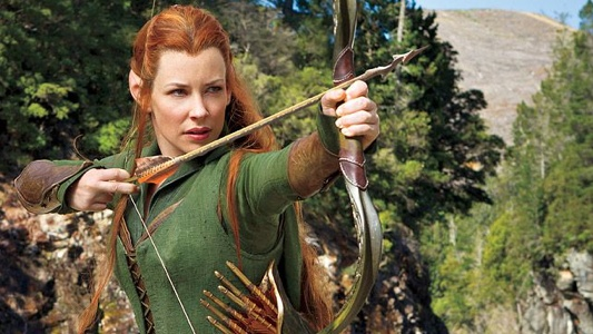 Evangeline Lilly as Tauriel In The Hobbit The Desolation Of Smaug