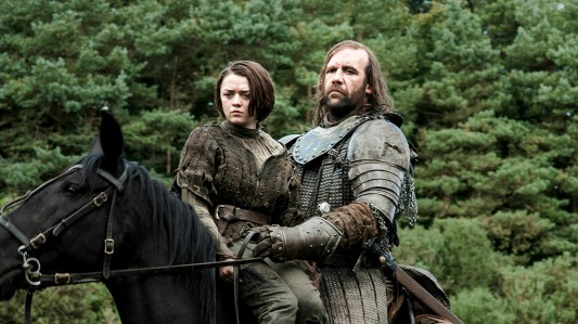Game of Thrones -- Arya Stark & The Hound Image