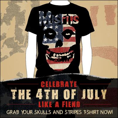 July 4th Misfits Skulls & Stripes Shirt