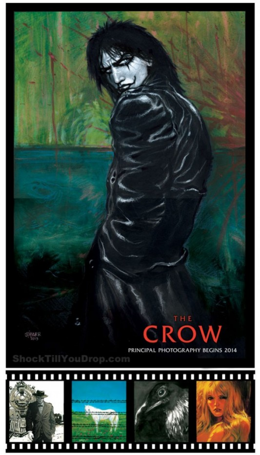 The Crow Reboot Comic-Con Poster By Creator James O'Barr