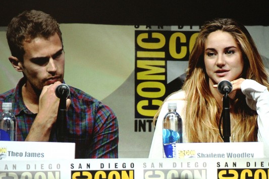 SDCC 2013: Divergent panel: Theo James and Shailene Woodley
