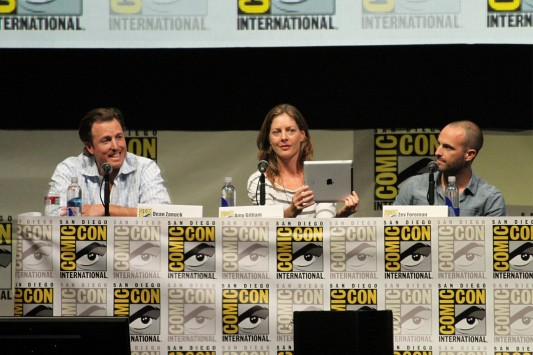 SDCC 2013: The Zero Theorem: producer Dean Zanuck, Amy Gilliam, and producer Zev Foreman