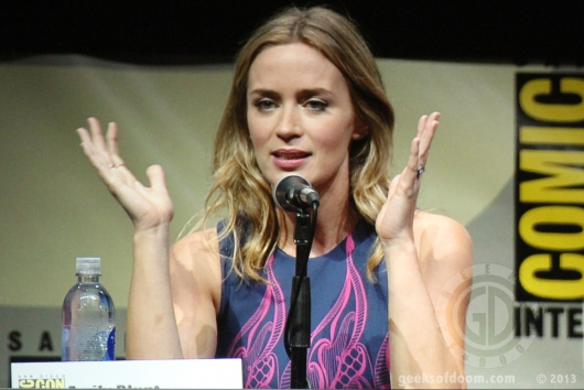 SDCC 2013: Edge of Tomorrow panel: Emily Blunt 03