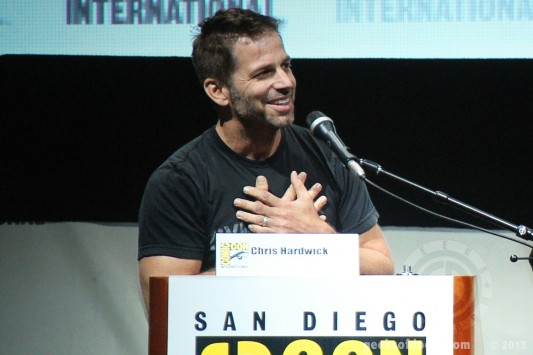 SDCC 2013: director Zack Snyder announcing Superman Batman photo by Geeks Of Doom