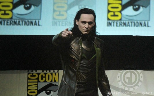 SDCC Tom Hiddleston Loki Marvel Studios Panel