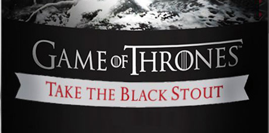 Game Of Thrones Take the Black Stout label