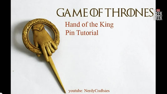 Game of Thrones Hand of the King Pin Tutorial