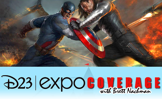 D23 Expo 2013: Captain America: The Winter Soldier banner