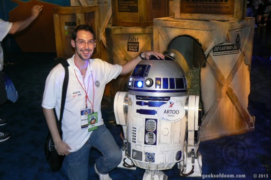 D23 Expo 2013: Brett with R2-D2
