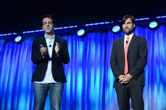 Disney D23 Expo Saving Mr. Banks B.J. Novak and Jason Schwartzman