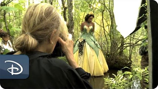 Disney Dream Portrait: Jennifer Hudson As Tiana From The Princess and the Frog behind the scenes