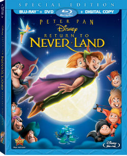"""Return To Never Land"" Blu-ray cover"