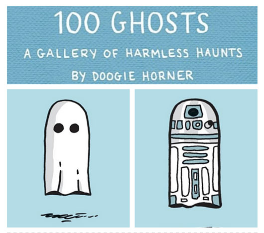 100 Ghosts Quirk Books title banner R2-D2 Ghost