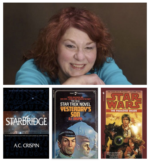 Author A.C. Crispin, Star Wars, Star Trek, StarBridge