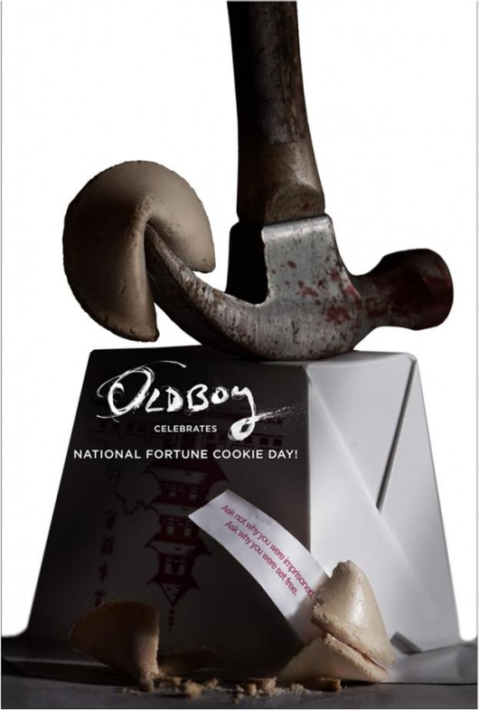 Oldboy Celebrates National Fortune Cookie Day poster