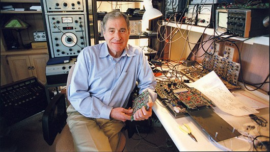Ray Dolby in home workshop