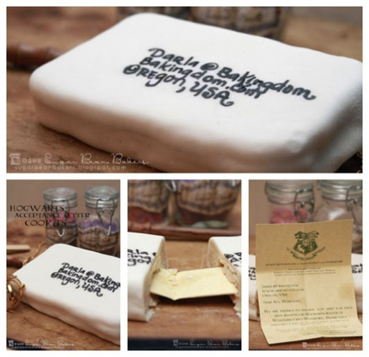 Harry Potter Make Your Own Hogwarts Letter Cookies