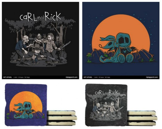 The Walking Dead & The Nightmare Before Christmas designs