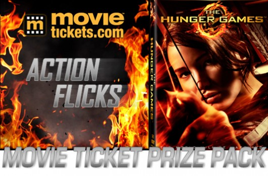 MovieTickets.com Action Flicks Prize Pack banner