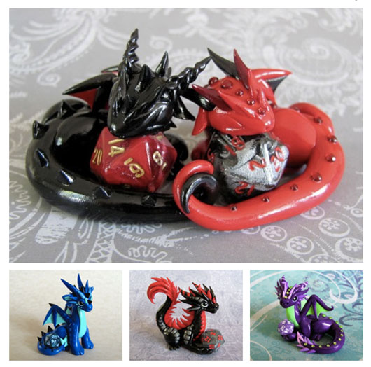 Dice dragons by DragonsAndBeasties
