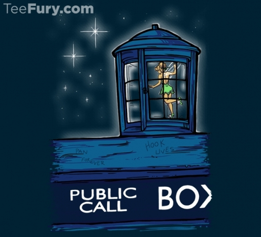 Doctor Who Tinkerbell In The TARDIS Stowaway Shirt