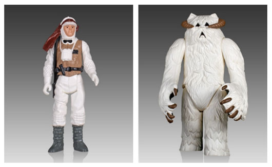 Star Wars Wampa and Luke Hoth figures