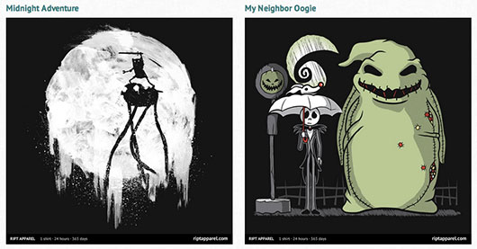 Nightmare Before Christmas and Adventure Time Shirts