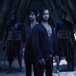 Da Vinci's Demons Season 2 Da Vinci Riario Incan Tunnel Tom Riley as Leonardo da Vinci, Blake Ritson as Riario