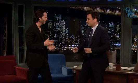 Jimmy Fallon Challenges Keanu Reeves To Tai Chi Fight