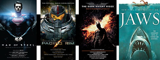 Movie books The Dark Knight Rises, Pacific Rim, Jaws, Man Of Steel