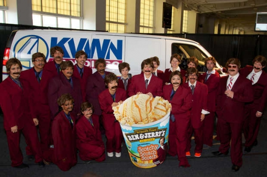 Ben & Jerry's Ron Burgundy Clones