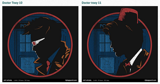 Doctor Who and Dick Tracy Doctor Tracy Shirts