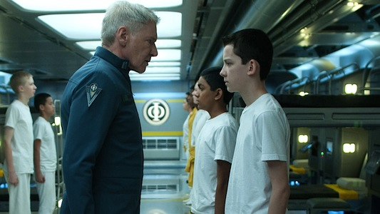 Ender's Game starring Asa Butterfield and Harrison Ford
