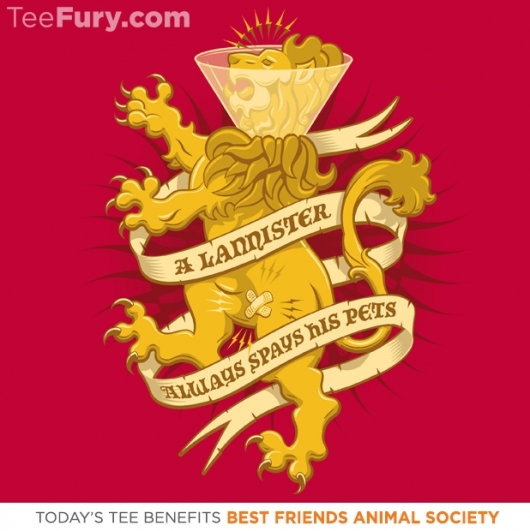 Game Of Thrones A Lannister Always... Best Friend Animal charity Shirt