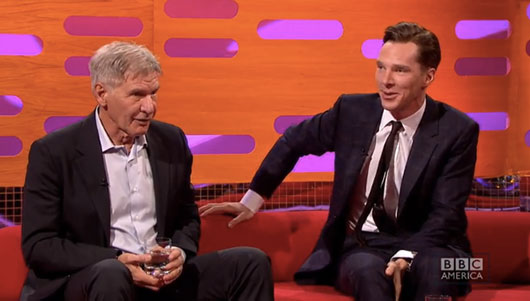 Harrison Ford and Benedict Cumberbatch Chewbacca impression on The Graham Norton Show