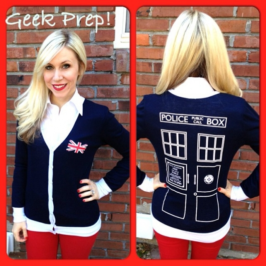 Her Universe Tardigan Doctor Who TARDIS Cardigan Ashley Eckstein