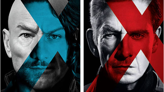 X-Men: Days of Future Past duel character posters Professor X and Magneto