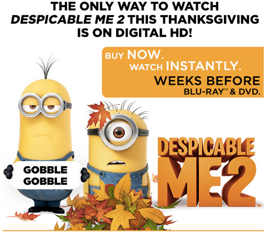 Despicable Me 2 Digital HD Thanksgiving