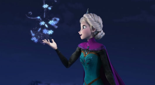 Disney Character Elsa of Frozen Shapes Snow and Ice