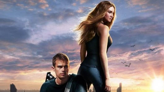 Divergent Poster Shailene Woodley and Theo James Header