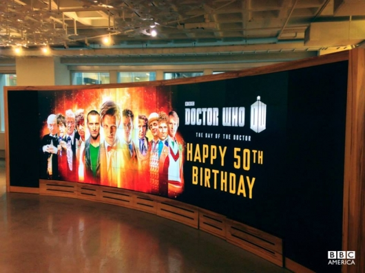 Doctor Who 50th Anniversary BBC America New York office