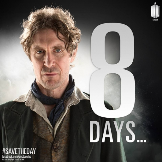 Doctor Who: The Day of the Doctor Paul McGann 8 days left countdown