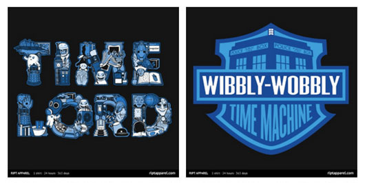 Doctor Who Time Lord Wibbly Wobbly shirts