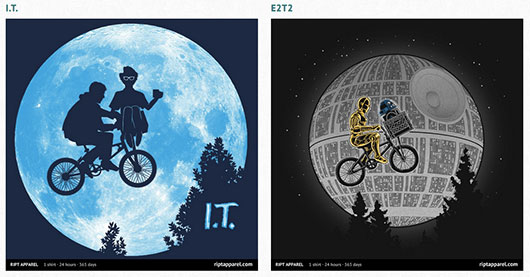 E.T., Star Wars, The IT Crowd Shirt design
