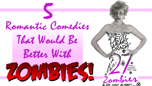 Five Romantic Comedies with Zombies banner