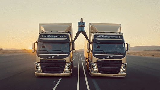 Jean-Claude Van Damme  Epic Split Between Two Moving Volvo Trucks
