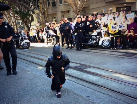 Miles Scott as Batkid Saving Gotham City