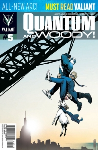 Valiant Comics: Quantum and Woody #5 cover by Andrew Robinson