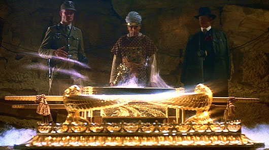 Raiders Of The Lost Ark Belloq opening the ark
